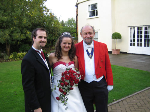 Gerry Tovell with the Happy Couple