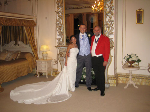 Gerry Tovell with thte Happy Couple